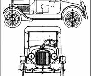 Coloring pages Classic Ford to cut
