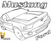 Coloring pages Color mustang ford