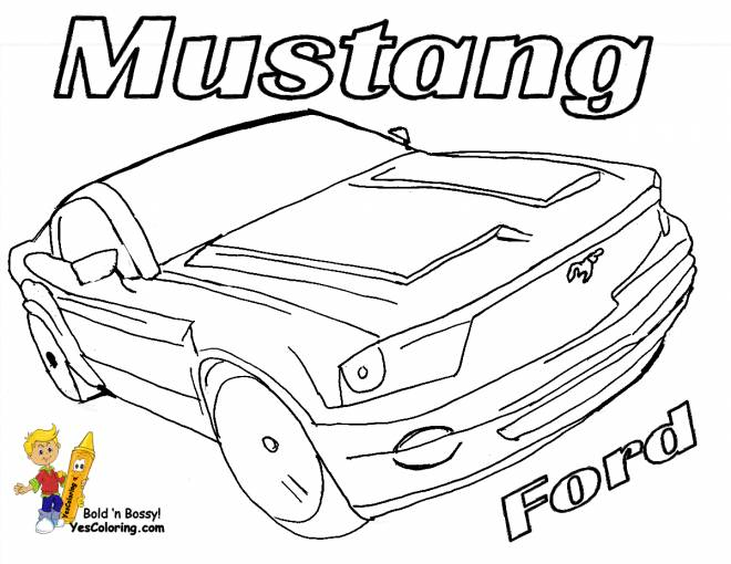 Free coloring and drawings Color mustang ford Coloring page