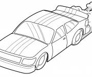 Coloring pages Easy Ford Race Car