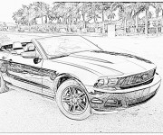 Free coloring and drawings Ford coupe Coloring page