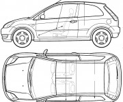 Coloring pages Ford Fiesta