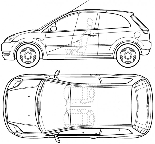 Free coloring and drawings Ford Fiesta Coloring page