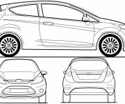 Coloring pages Ford Fiesta car