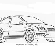 Coloring pages Ford Fiesta maternal