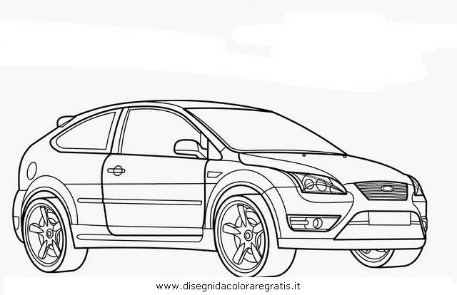 Free coloring and drawings Ford Fiesta maternal Coloring page