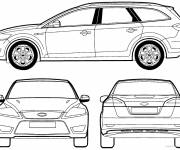 Coloring pages Ford Focus car