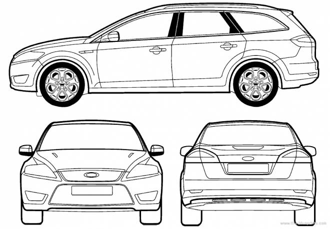 Free coloring and drawings Ford Focus car Coloring page