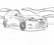 Coloring pages Ford Focus RS