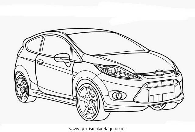 Free coloring and drawings Ford Focus RS Online Coloring page