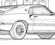 Coloring pages Ford GT e plein on it