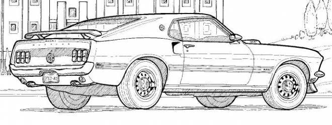 Free coloring and drawings Ford GT e plein on it Coloring page