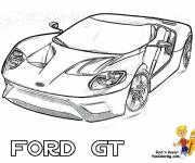 Coloring pages Ford GT Sports Car
