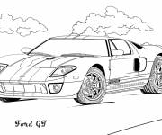 Free coloring and drawings Ford GT to download Coloring page