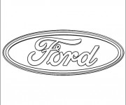Coloring pages Ford Logo