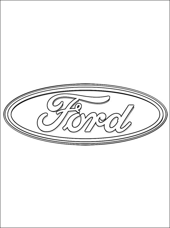 Free coloring and drawings Ford Logo Coloring page