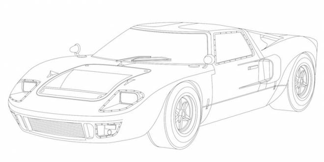 Free coloring and drawings Ford Luxury Car Coloring page