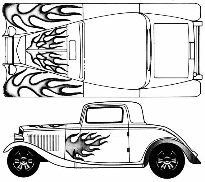 Free coloring and drawings Ford Model T Painting Coloring page