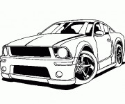 Free coloring and drawings Ford Mustang Coloring page