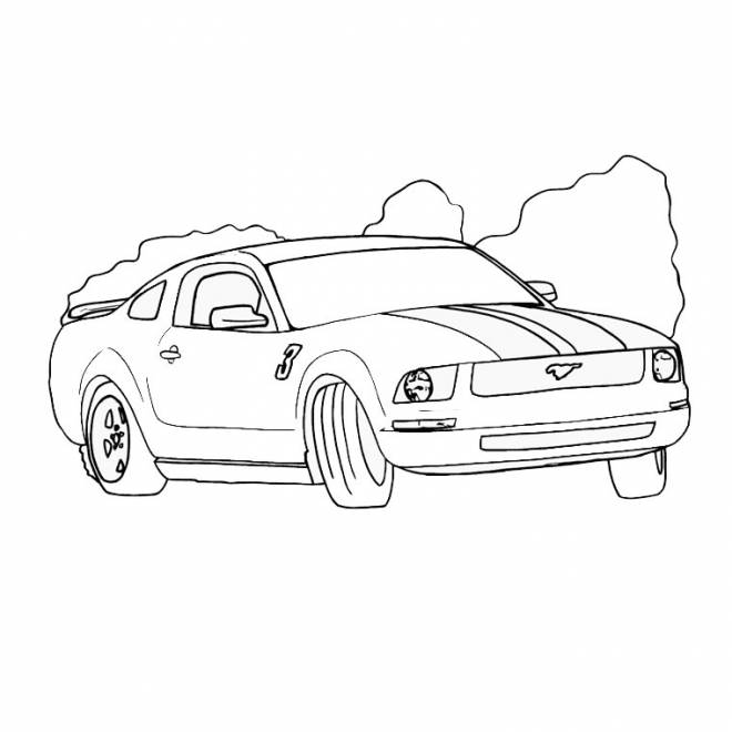 Free coloring and drawings Ford Mustang coloring Coloring page
