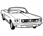 Free coloring and drawings Ford Mustang Convertible Coloring page