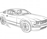 Coloring pages Ford Mustang GT