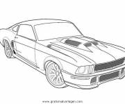 Coloring pages Ford Mustang GT model