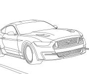 Coloring pages Ford Mustang on the road