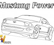 Coloring pages Ford Mustang Power