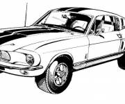 Coloring pages Ford Mustang vector