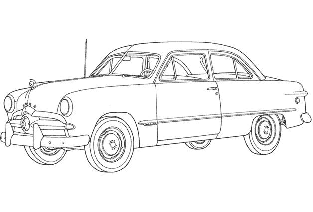 Free coloring and drawings Ford old model Coloring page