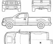 Coloring pages Ford Pick Up Pickup