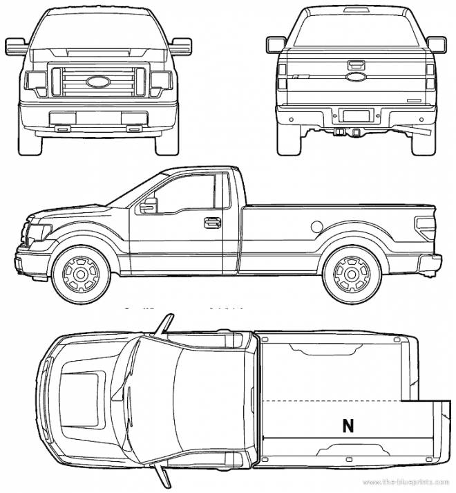 Free coloring and drawings Ford Pick Up Pickup Coloring page