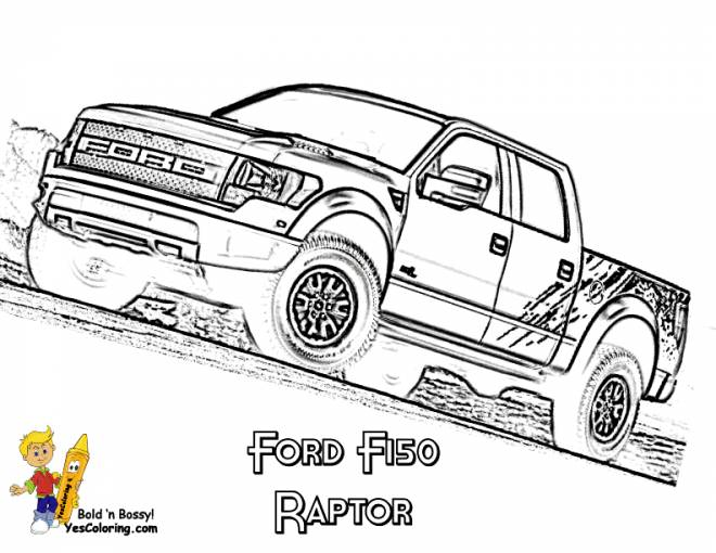 Free coloring and drawings Ford pickup truck Coloring page