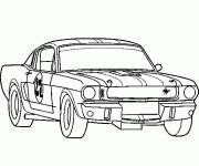 Coloring pages Ford Race Car