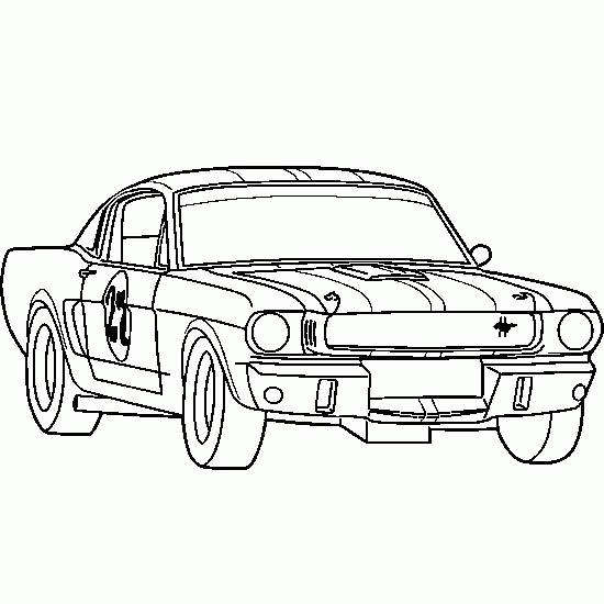 Free coloring and drawings Ford Race Car Coloring page
