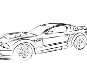 Coloring pages Ford racing