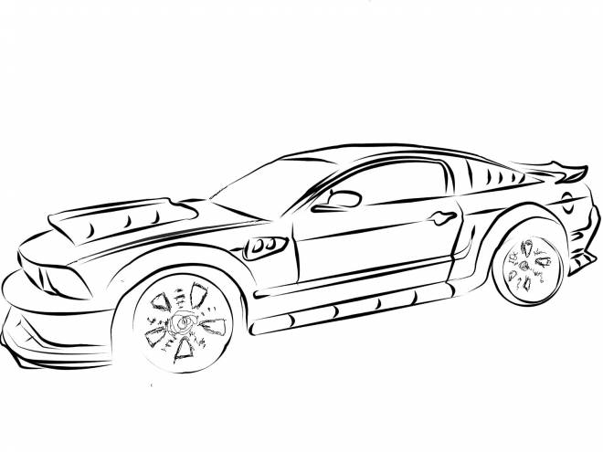 Free coloring and drawings Ford racing Coloring page