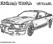 Coloring pages Ford Shelby Cobra
