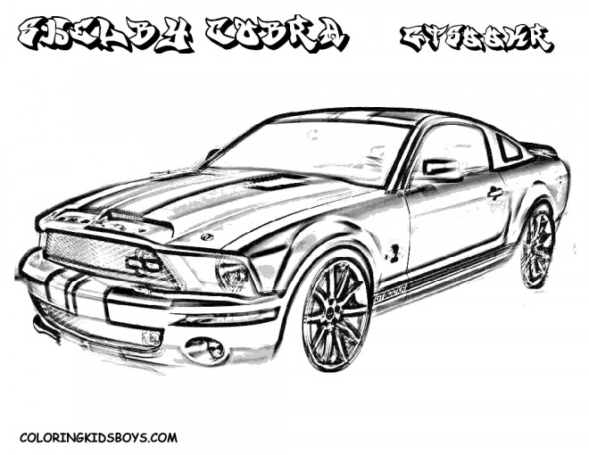 Free coloring and drawings Ford Shelby Cobra Coloring page