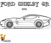 Free coloring and drawings Ford Shelby GR Coloring page