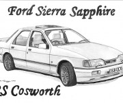 Coloring pages Ford Sierra Sapphire