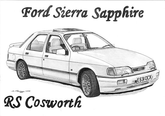 Free coloring and drawings Ford Sierra Sapphire Coloring page