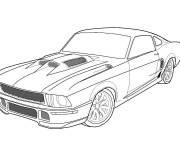 Coloring pages Ford sports car