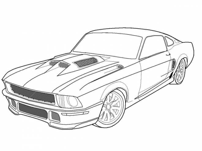 Free coloring and drawings Ford sports car Coloring page