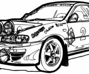 Coloring pages Ford sports rally