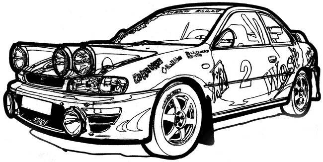 Free coloring and drawings Ford sports rally Coloring page