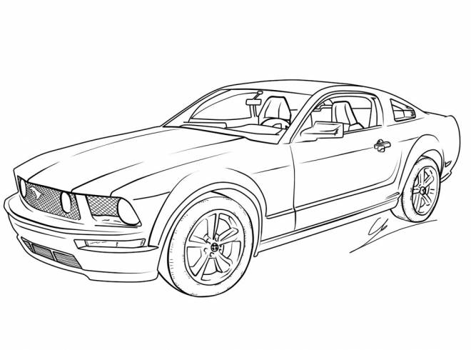 Free coloring and drawings New generation Ford car Coloring page