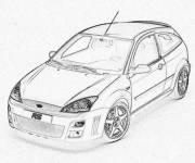 Coloring pages Realistic Ford