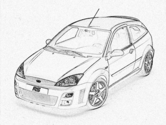 Free coloring and drawings Realistic Ford Coloring page